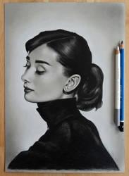 Audrey Hepburn by xhaimiddleton