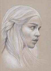 Khaleesi Sketch by xhaimiddleton