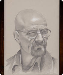 Walter White Portait by xhaimiddleton