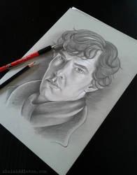 Benedict Cumberbatch Portrait by xhaimiddleton