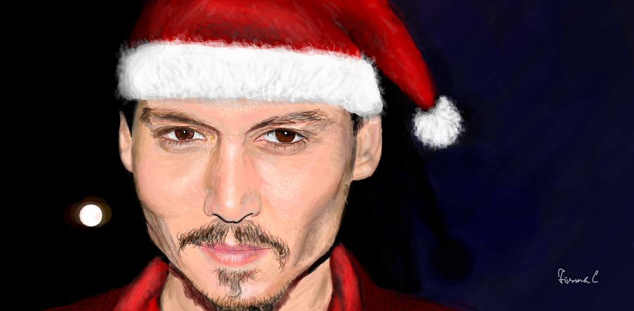 Johnny Depp Christmas ver by FionnaC on DeviantArt