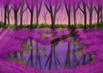 Free background - purple leaves
