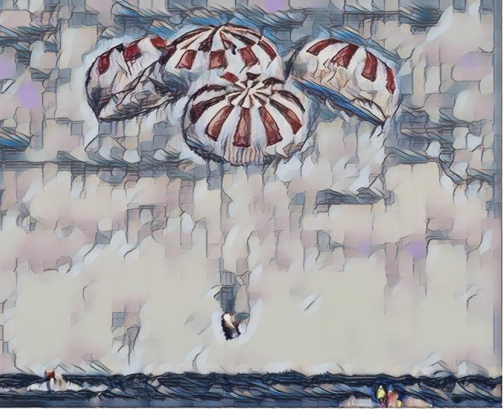 Crew Dragon Splashdown by mickeykulp