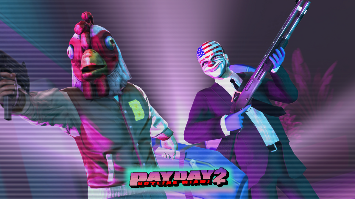 Buy Here Pay Here Miami >> Payday 2 Hotline Miami Wallpaper by Gt118 on DeviantArt