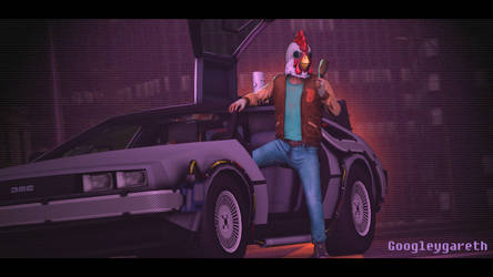 Back to Miami2 (hotline Miami/Back to the Future) by Gt118