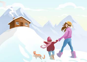 Mountain walk by Nezart