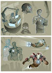 Iron man and Stark sketches