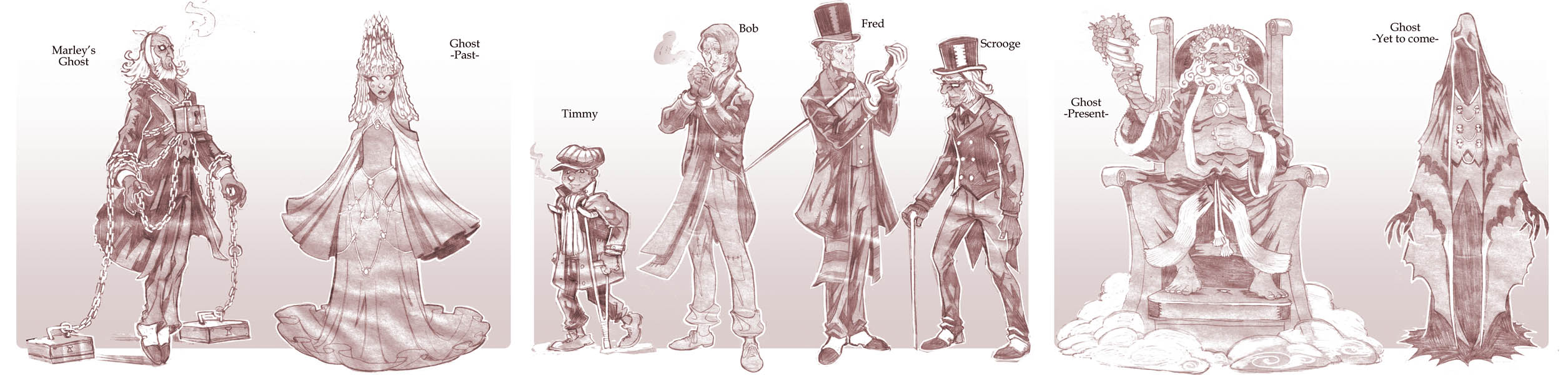 A Christmas Carol Characters.Christmas Carol Character Concepts By Nezart On Deviantart