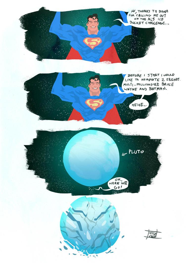 Superman's ALS bucket challenge by Nezart
