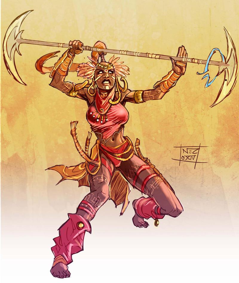 spirit warrior by Nezart