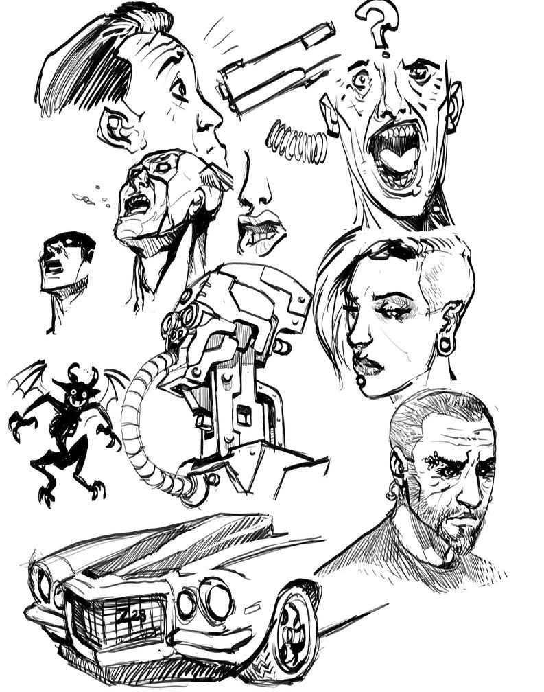 Casual doodles by Nezart