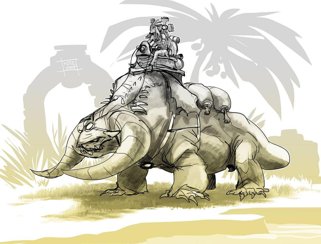 Carrier sketch by Nezart