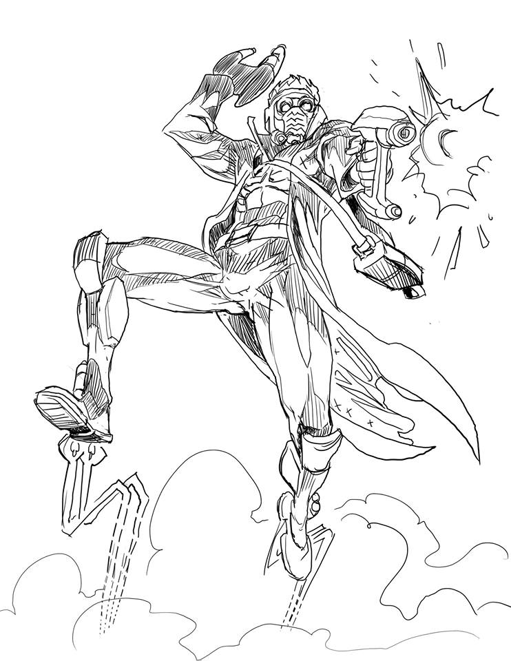 A sketch of Starlord! by Nezart