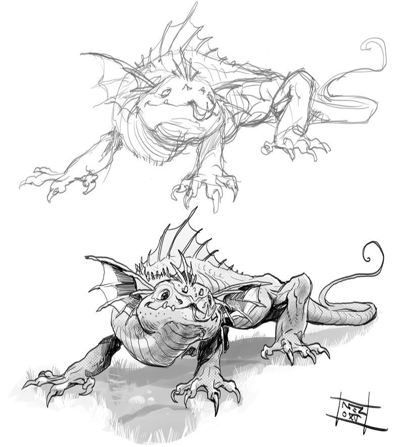 Gust lizard by Nezart