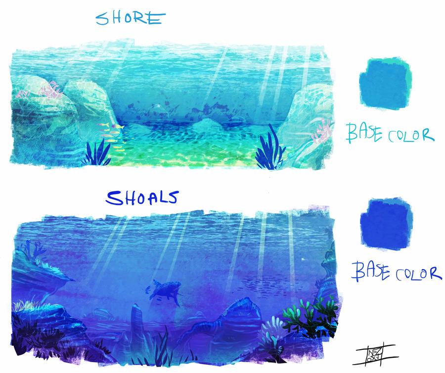 Underwater studies by Nezart