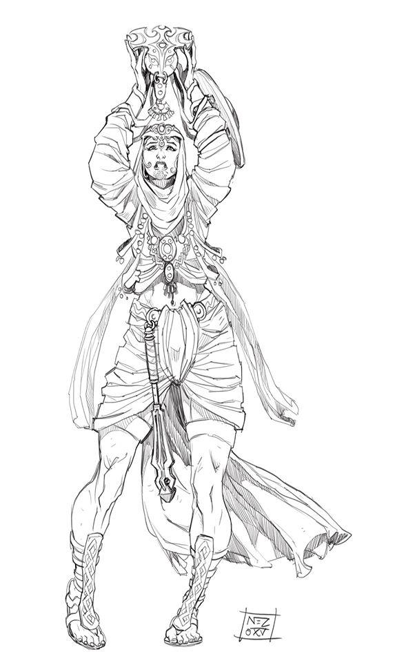 Priestess by Nezart