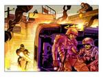 Scene for Mutants and Masterminds. 4 Horsemen