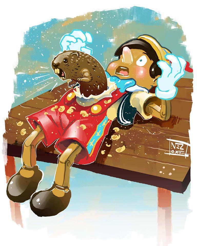 Belly Beaver by Nezart