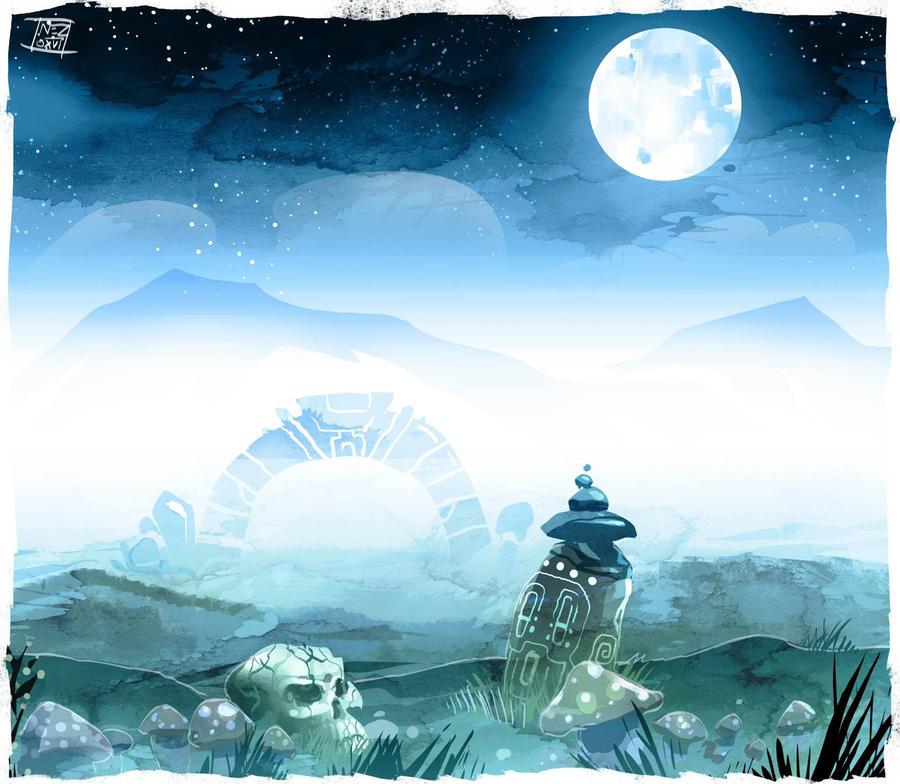 Ghost meadow by Nezart