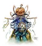 Pumpkin Scarecrow colored. by Nezart