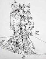 Hengeyokai Archer by Nezart