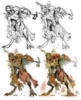 Character design work phases by Nezart