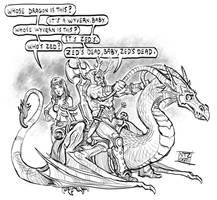 Pulp Fantasy Fiction by Nezart