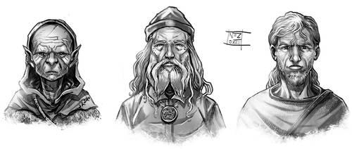 Fantasy headshots. by Nezart