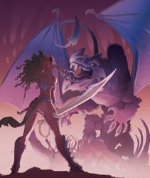 Dragon Huntress by Nezart
