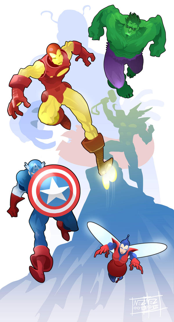Avengers Assemble stroked by Nezart