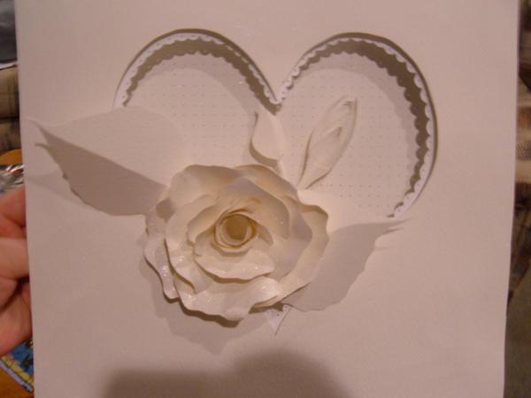 rose paper sculpture by coolingj7j77