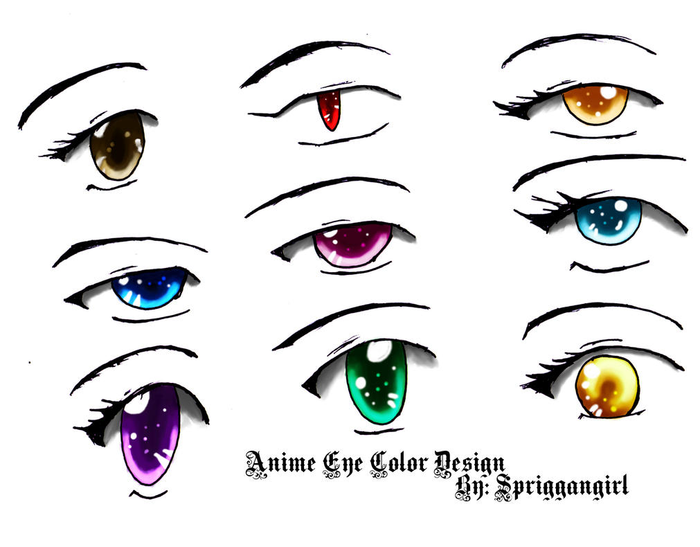 anime eyes coloring pages - anime eye color design by spriggangirl on deviantart