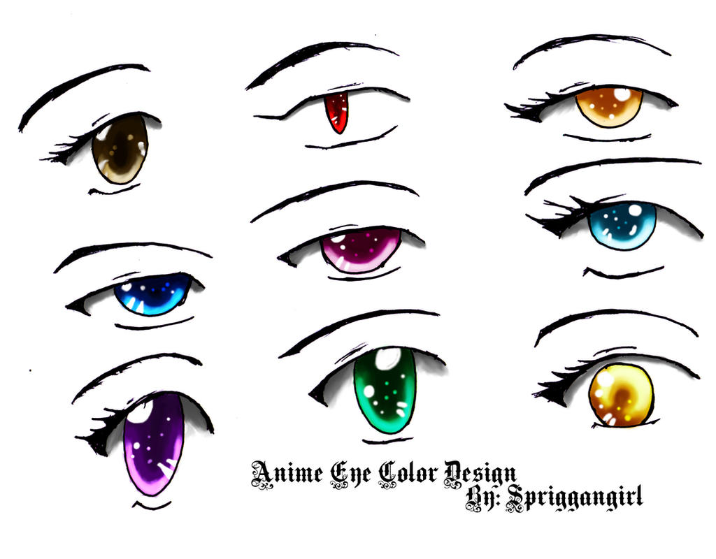 Anime Eyes Color Anime Eye Color Designby