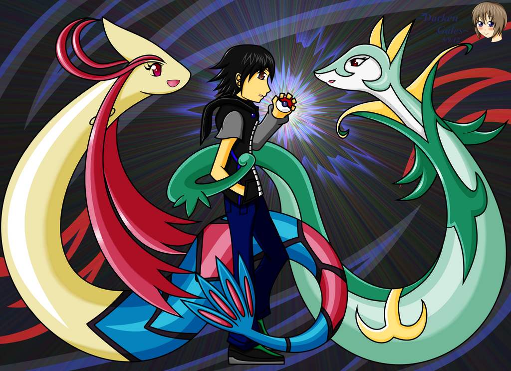 Me and milotic an serperior by DarkenGales