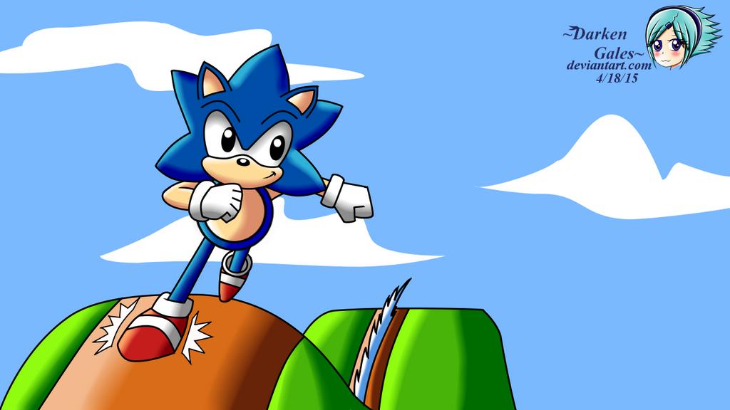 Sonic The Hedgehog by DarkenGales