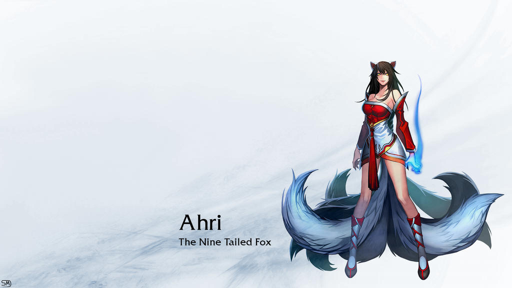 League of Legends Ahri Wallpaper by shmartin