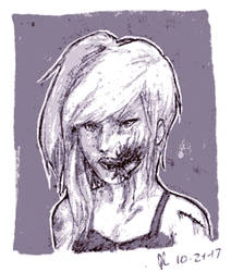 Ink/Goretober Day 24: Mouth Trauma by Scorchwind58