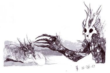Ink/Goretober Day 26: illness of the mind by Scorchwind58