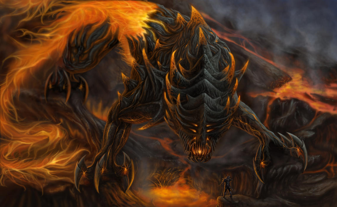 Fire Colossus by Sarahlyyn