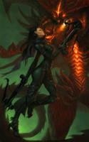 Demon Hunter: Diablo by SaraLynArt