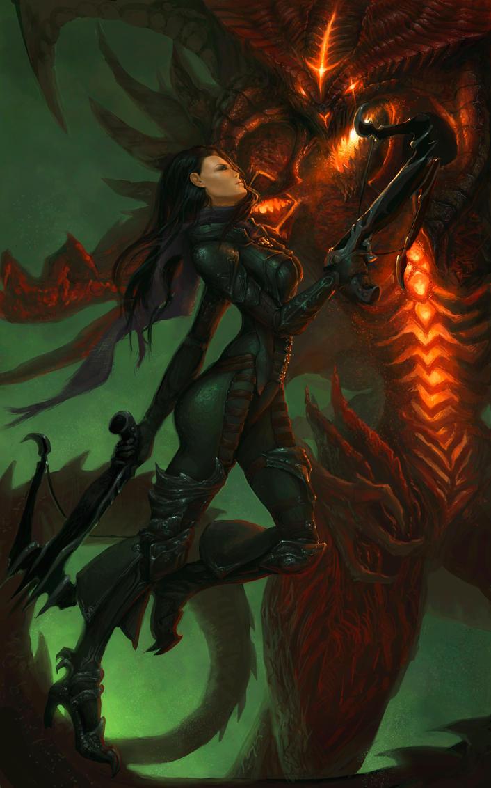 Demon Hunter: Diablo by SaraLynArt on DeviantArt  Demon Hunter: D...