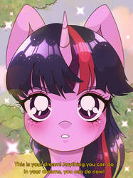 Twilight Sparkle in old anime style