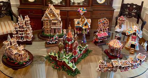 Faux Gingerbread Village