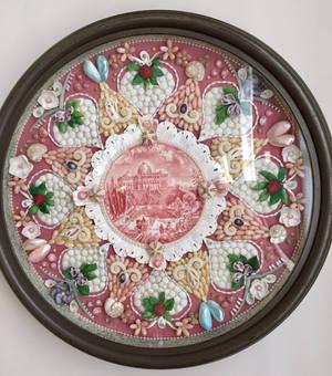 Rose Plate Sailors' Valentine