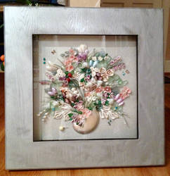 Nautilus Bouquet in Silver Frame