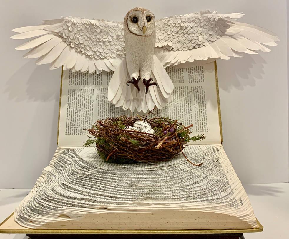 Snowy Owl (polymer clay)