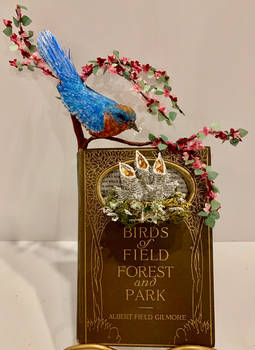 Birds of Field and Forest (polymerclay,paper,wire)
