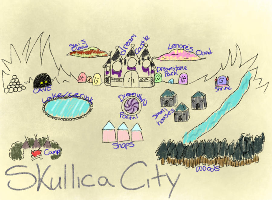 Skullica City Map by truerefrain