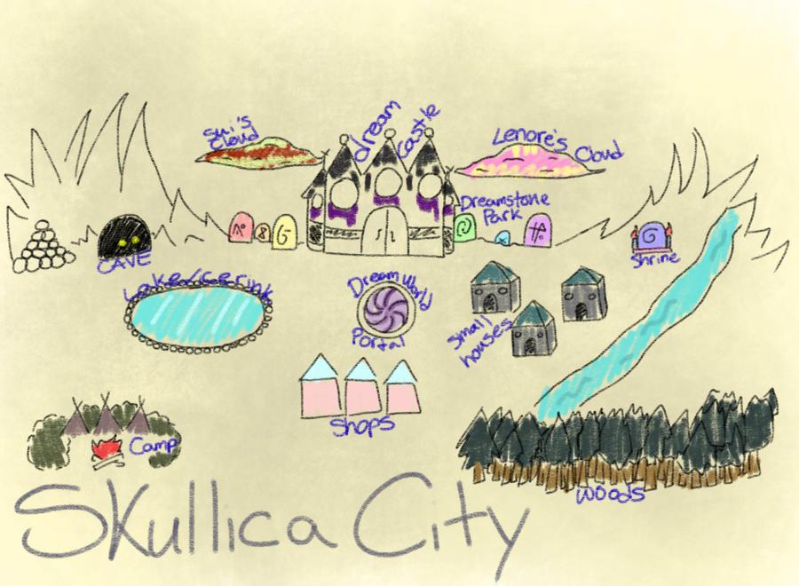 Skullica City Map by truerefrain