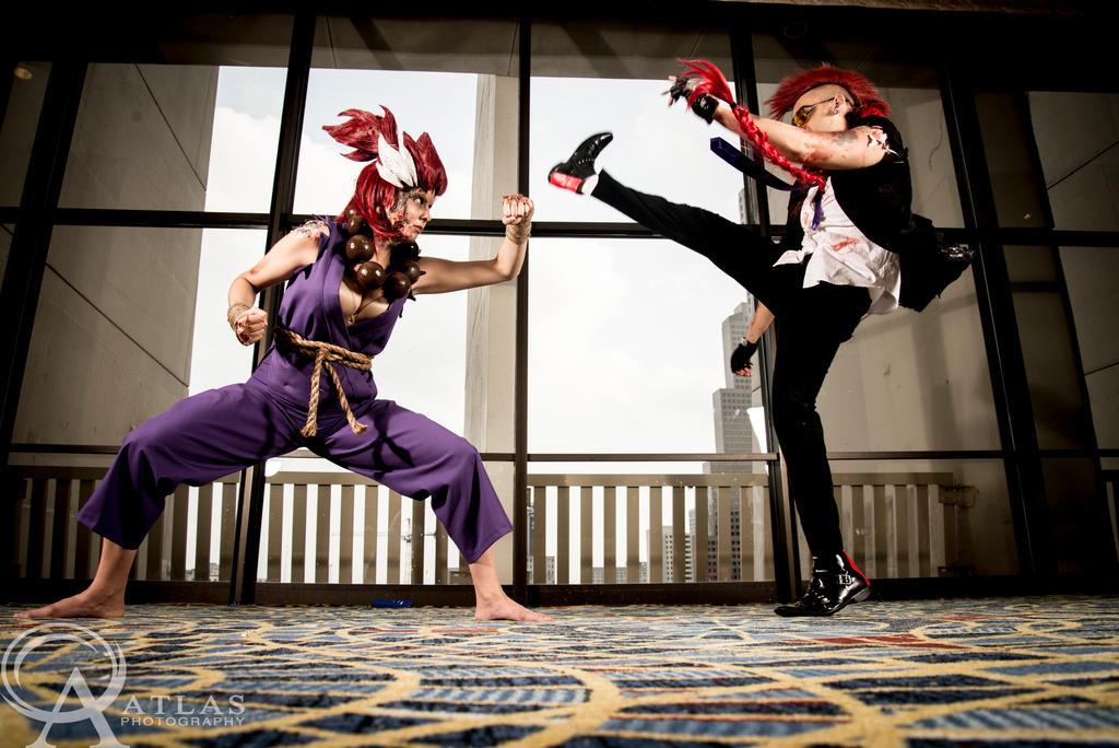 Female Akuma VS Male C. Viper by GinaBCosplay